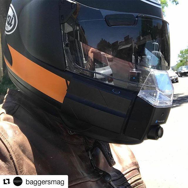 nuviz heads up display hud for motorcycle helmets