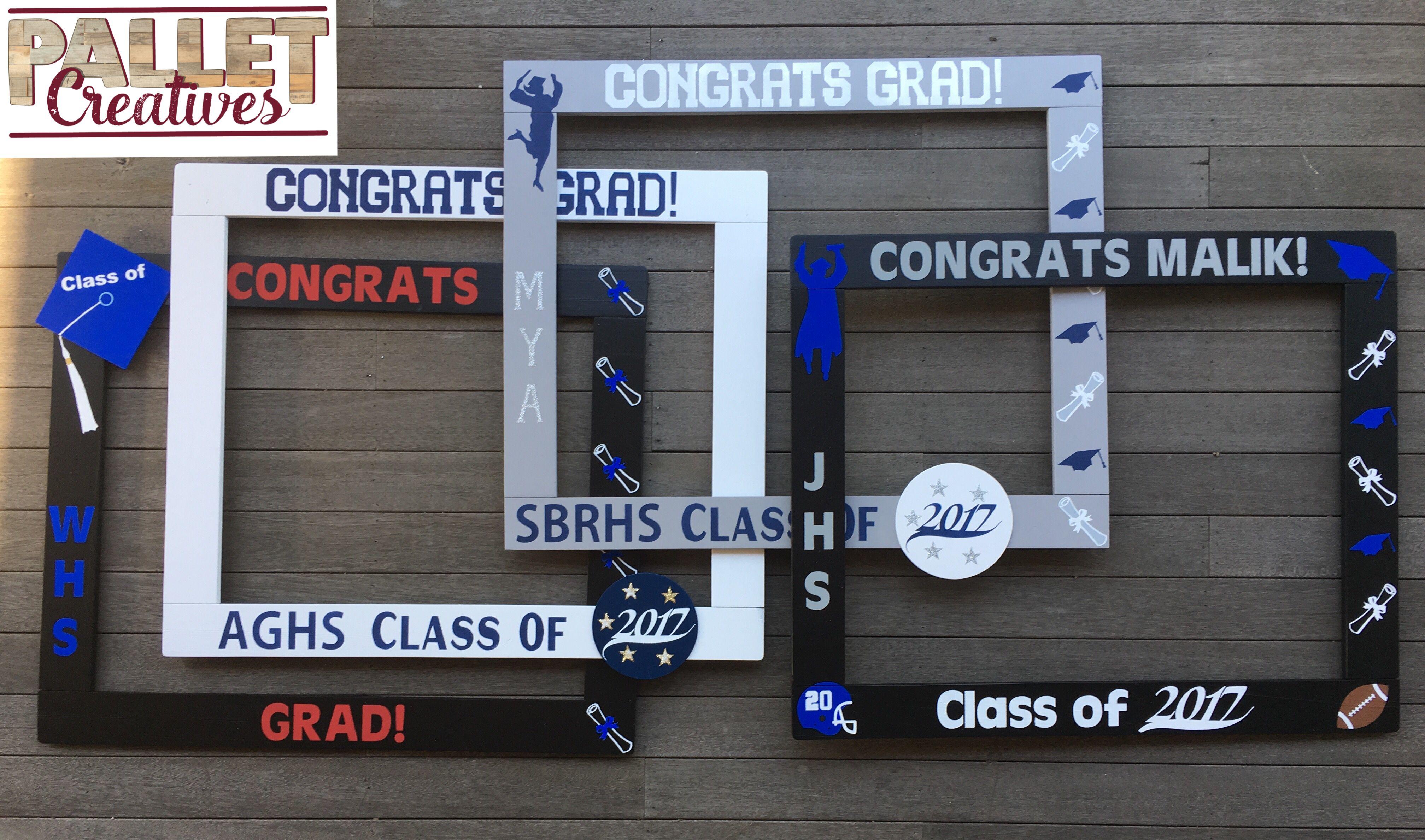 Graduation Photobooth - Congrats Grad Photo Booth - Class of 2017 Frame Prop - Grad Photobooth Frame Prop
