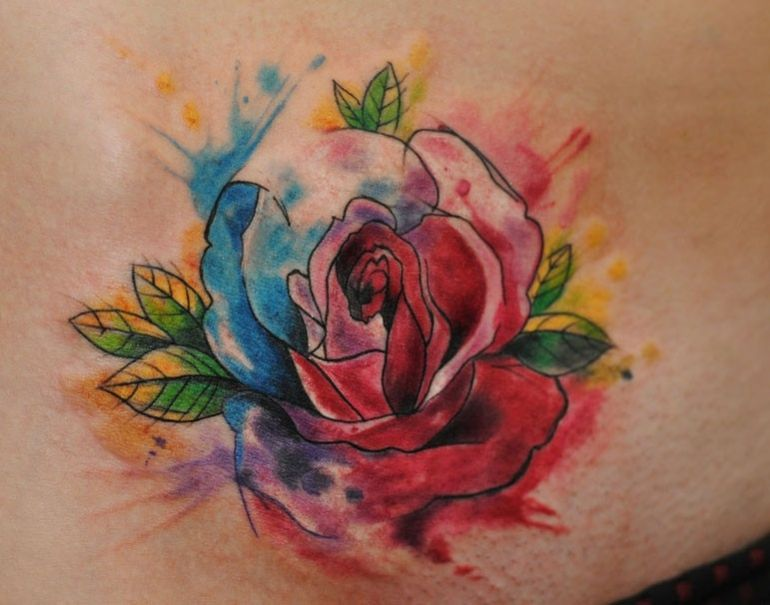 Rose Aquarelle Watercolor Dreamcatcher Tattoo Watercolor Rose