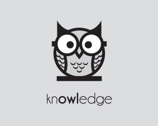 Knowledge Owl Logo design - The concept of using the word 'knowledge' which contains 'owl' conveys intelligence and wisdom. The logo is suitable for educational institutions.  Price $600.00
