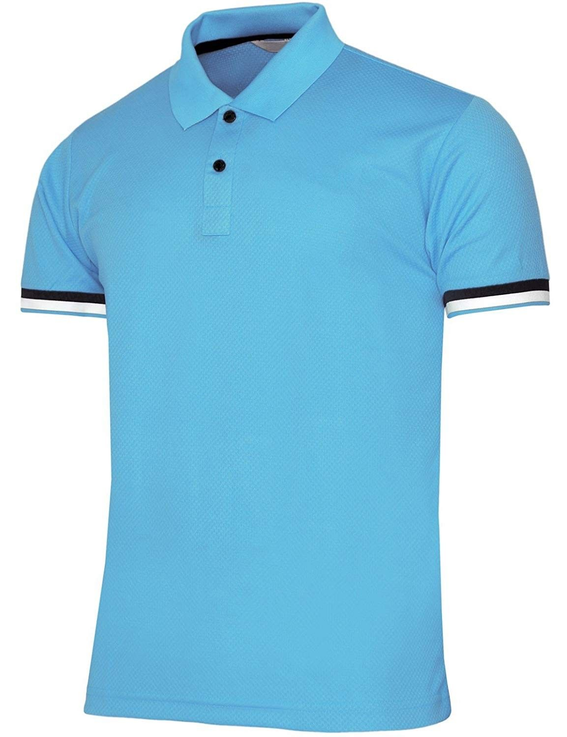 Men's Short Sleeve Casual Polo Shirts Dri Fit 2 Button