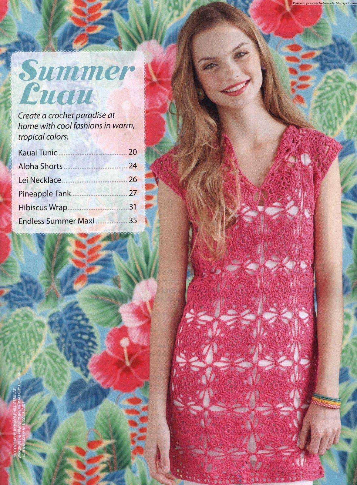 Vestido de Crochet Rosa   Pinterest   Vestiditos, Blog y Vestidos ...