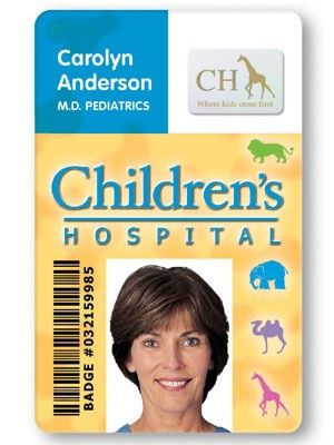 Sample Medical Photo Id Badge Printed On A Fargo Card Printer  Id
