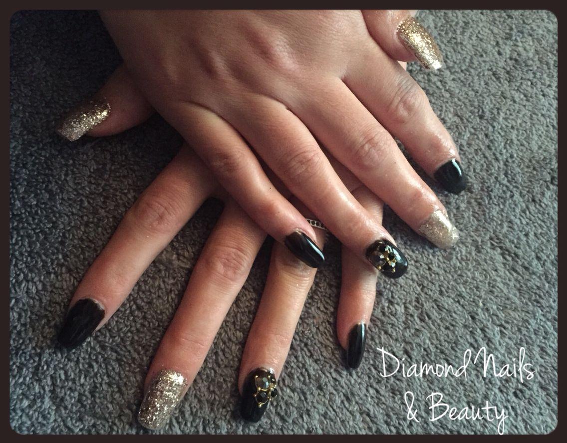 NSI acrylic nails with gorgeous Ink London ilac gel polish and ...