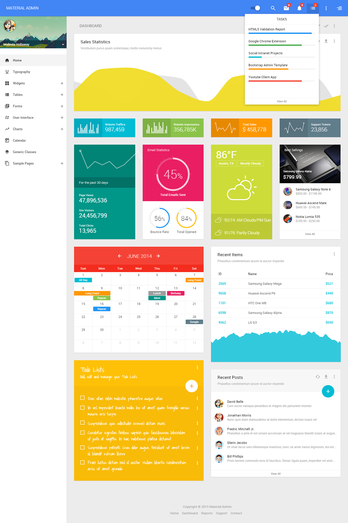 Google jquery themes - Material Admin Is A Google Material Design Inspired Powerful Lightweight Fully Responsive Retina Display Compatible