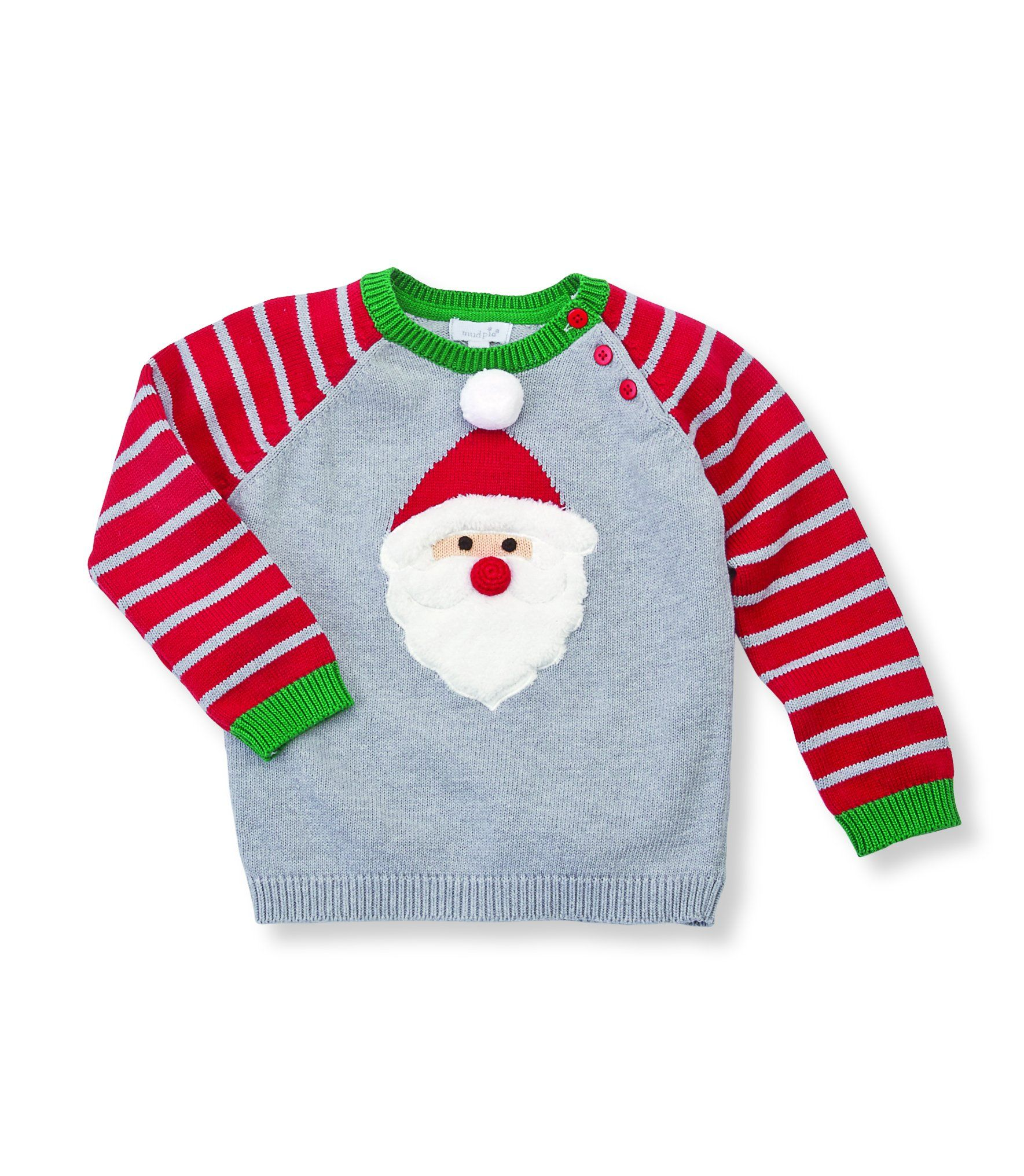 207fa61e1388df Holiday Striped Santa Sweater by Mud Pie * 12-18M | Products ...