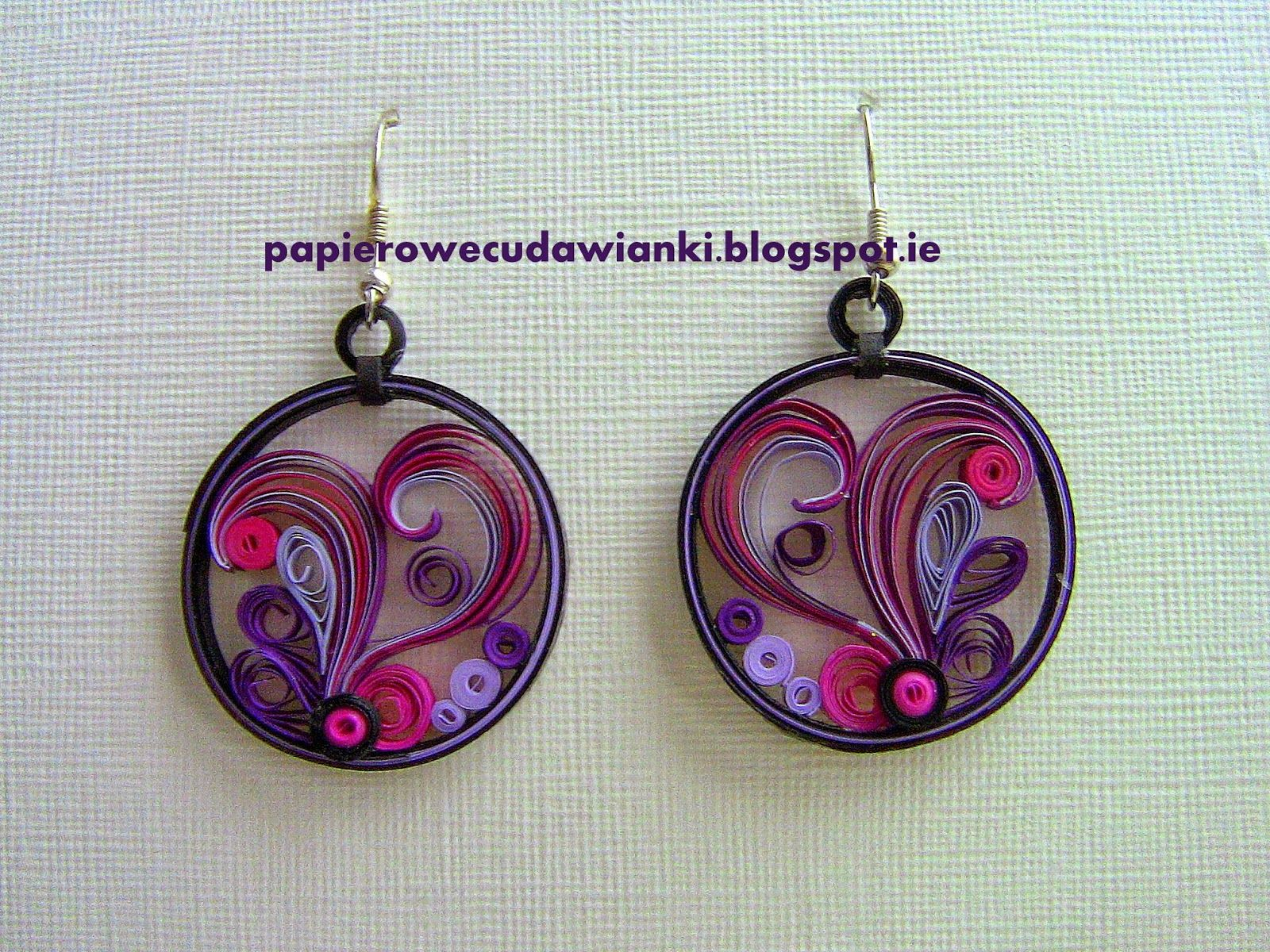Quilling Earrings More Designs : Quilled Earrings Quilling bijoux Pinterest Quilling