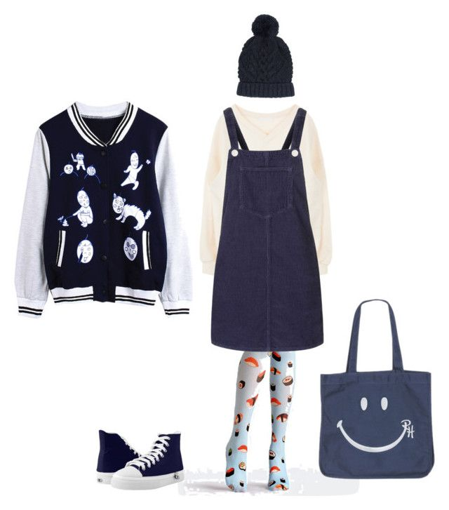 """""""Sushi tights outfit"""" by eunah-cho ❤ liked on Polyvore featuring WithChic, Topshop and Accessorize"""
