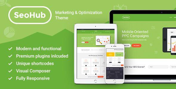 SEOHub – SEO & Marketing WordPress Theme | Wordpress | Pinterest ...