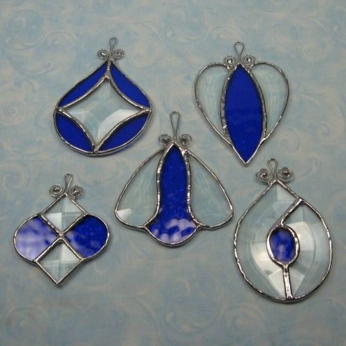 Stained glass ornaments | ... Stained Glass Bevel Ornament Suncatcher-Star Center | ByCoco - Glass