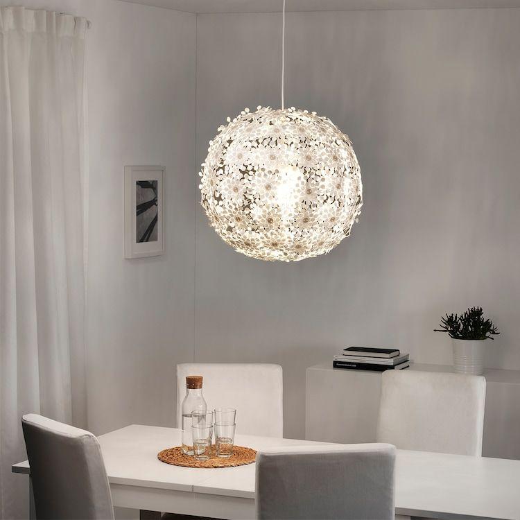 GRIMSÅS Pendant lamp, white, 22