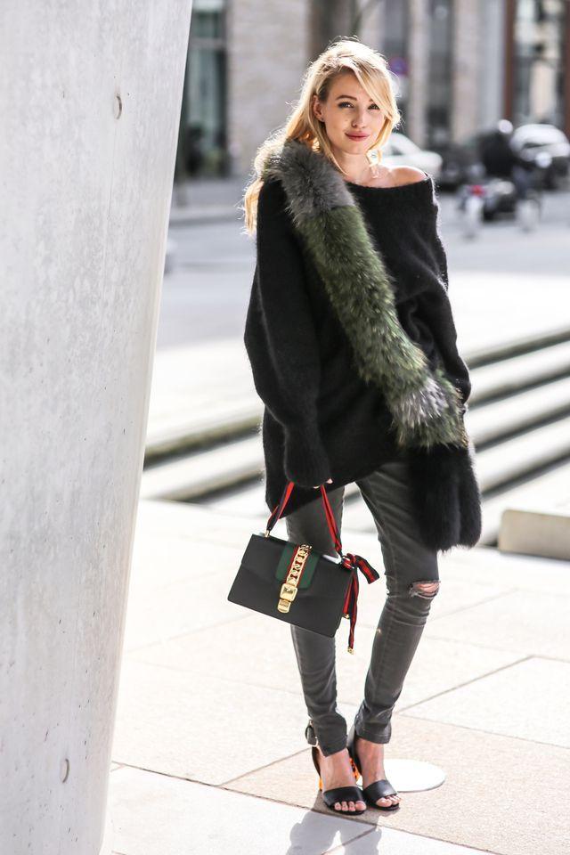 f6f84031a04 Gucci Sylvie bag   Acne heels