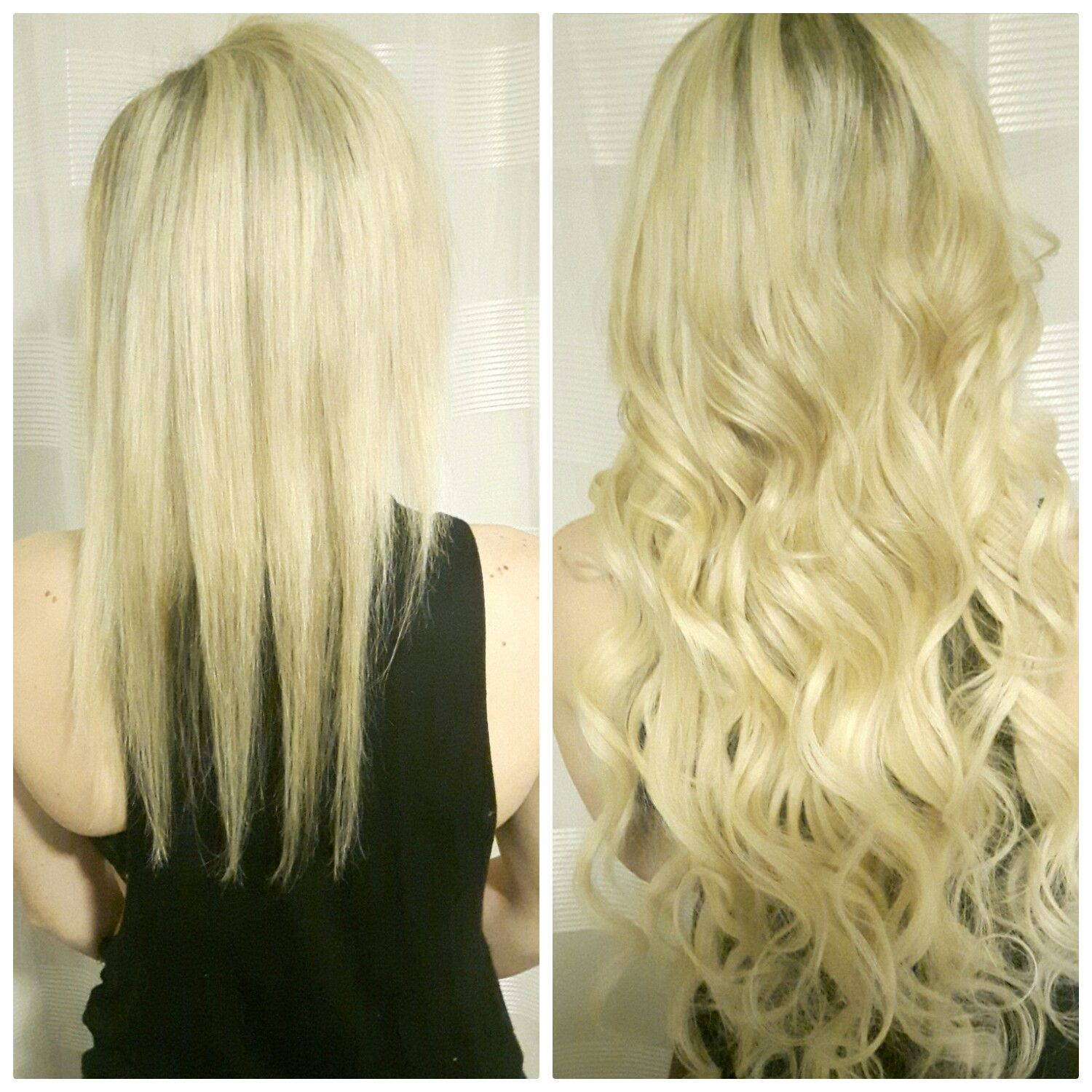 Before And After 26 Inches In 60 Platinum Blonde Expertly