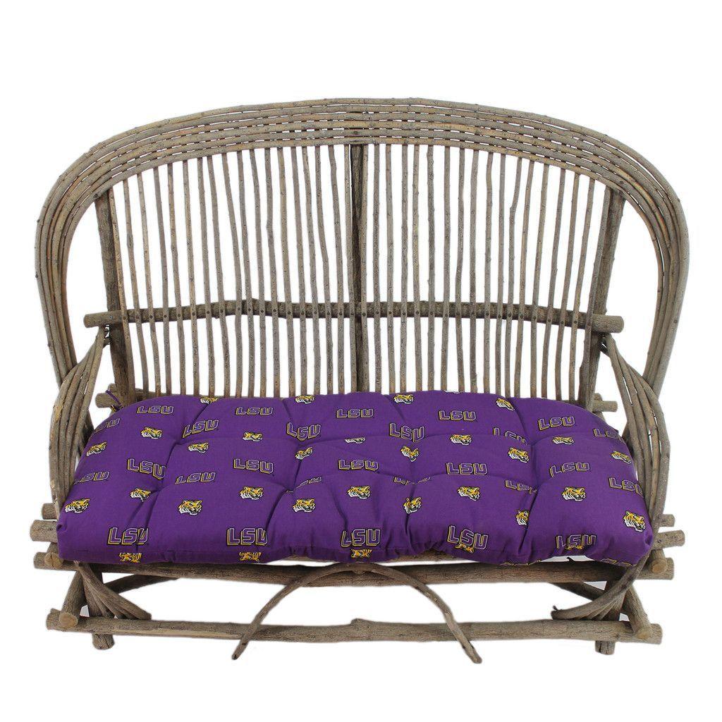 LSU Tigers Settee Chair or Loveseat Cushion