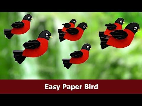 Photo of DIY Easy Paper Craft Bird / Paper Crafts for Kids/ Craft Paper Ideas By Aloha Crafts