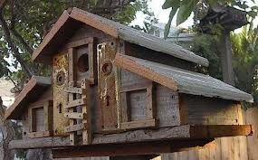 Large rustic birdhouse