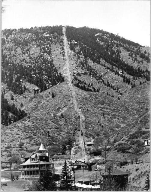 Mount Manitou Incline Manitou Springs Colo 1925 Manitou Springs Colorado Spring History Colorado Towns