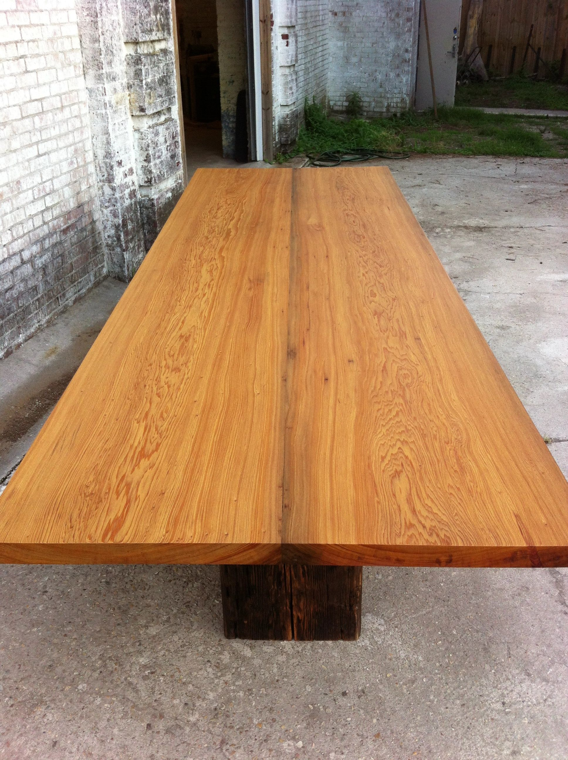 Sinker Cypress Slabs And Heart Pine Conference Table