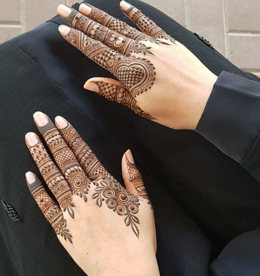 easy modern fingers mehndi design