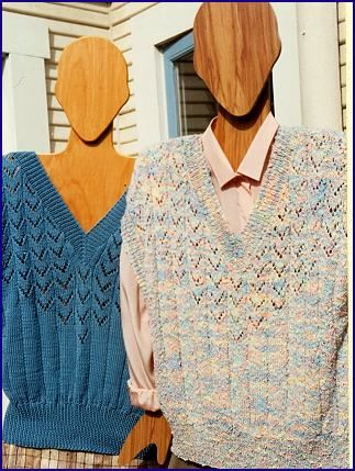Waikiki V Neck Drop Shoulder Vest Free Knitting Pattern From