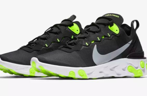 e1f7ce8d5c13 Release Update  Nike React Element 55 Black Volt The Nike React Element 55  is releasing