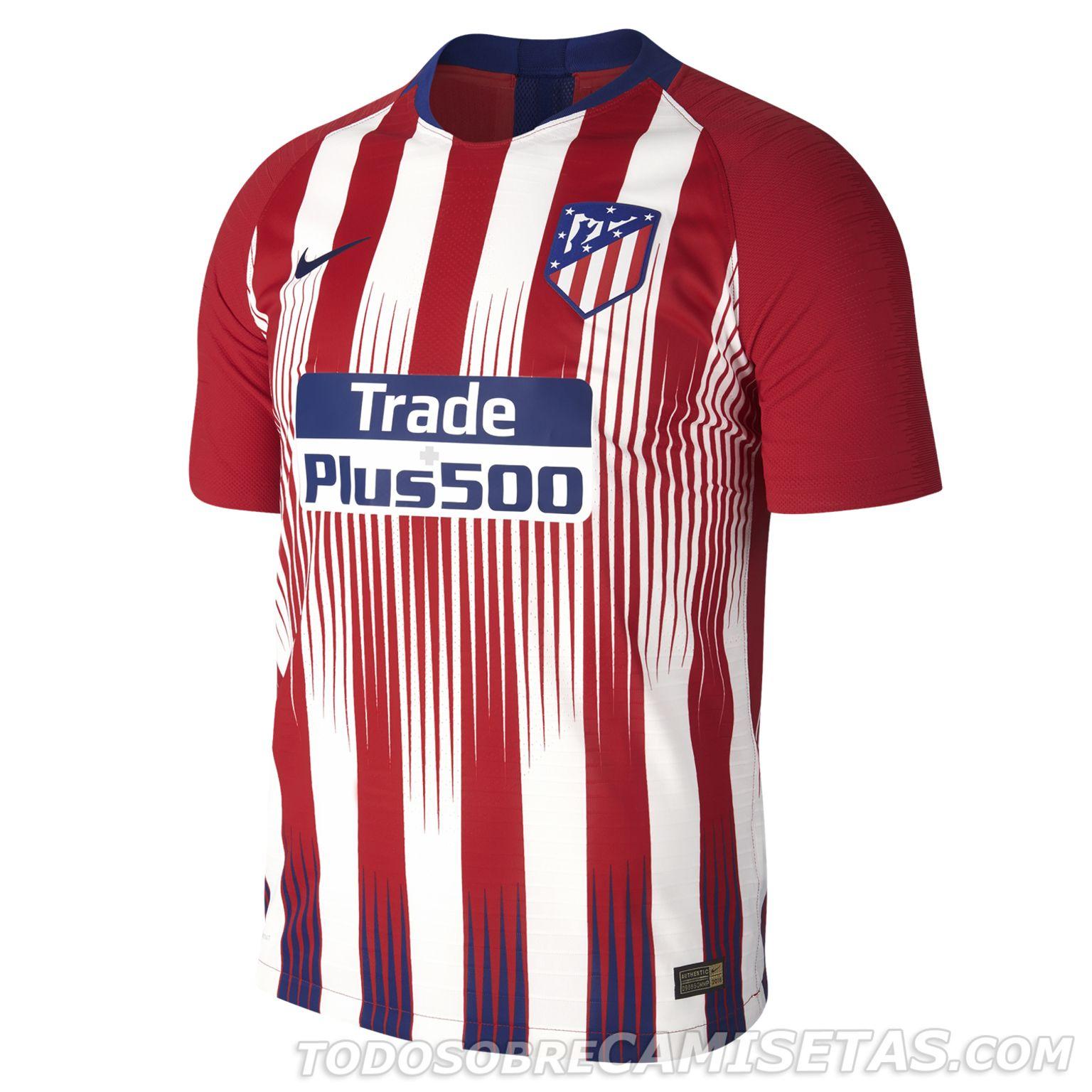 Camiseta Nike de Atlético de Madrid 2018-19 - Todo Sobre Camisetas ... 4e7ad03ae2d63