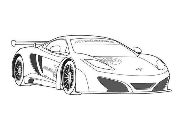 Mclaren Mp4 12c Gt3 Sportscar Coloring Page Free Online Cars