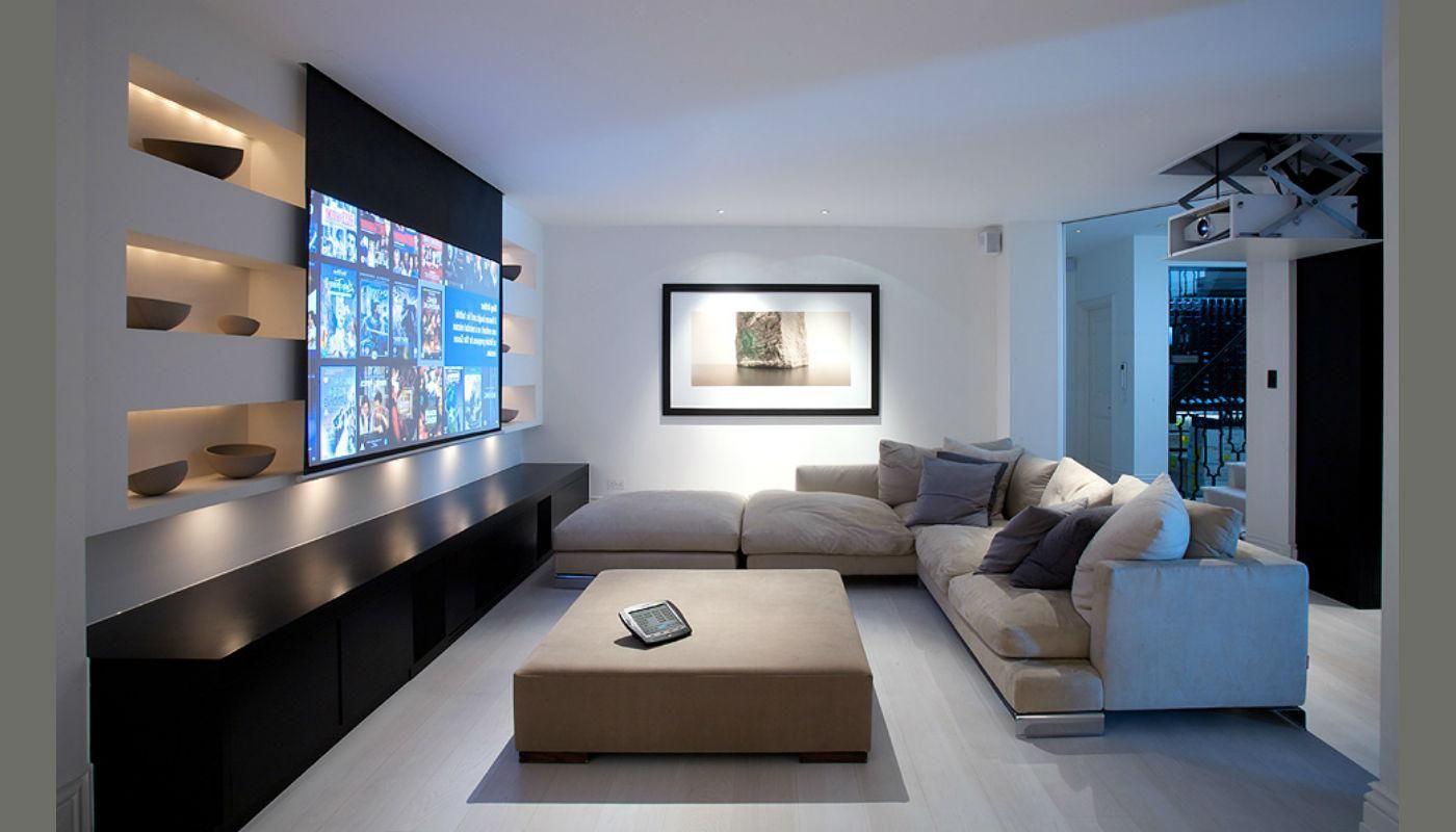 Beamer Wohnzimmer ~ High tech im wohnzimmer so fallen tv beamer und musikanlage kaum