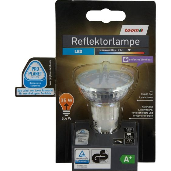 Led Reflektorlampe Stufenlos Dimmbar Gu10 400 Lm 54 W Warmweiss In 2020 Led Lampen Leuchten