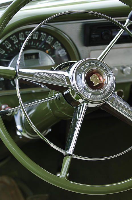 1953 Pontiac Steering Wheel by Jill Reger