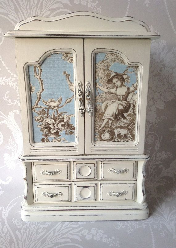 Customisable Order Large Shabby Chic Vintage By Paintmenewshop Painted Jewelry Boxes Jewelry Box Makeover Vintage Jewelry Box