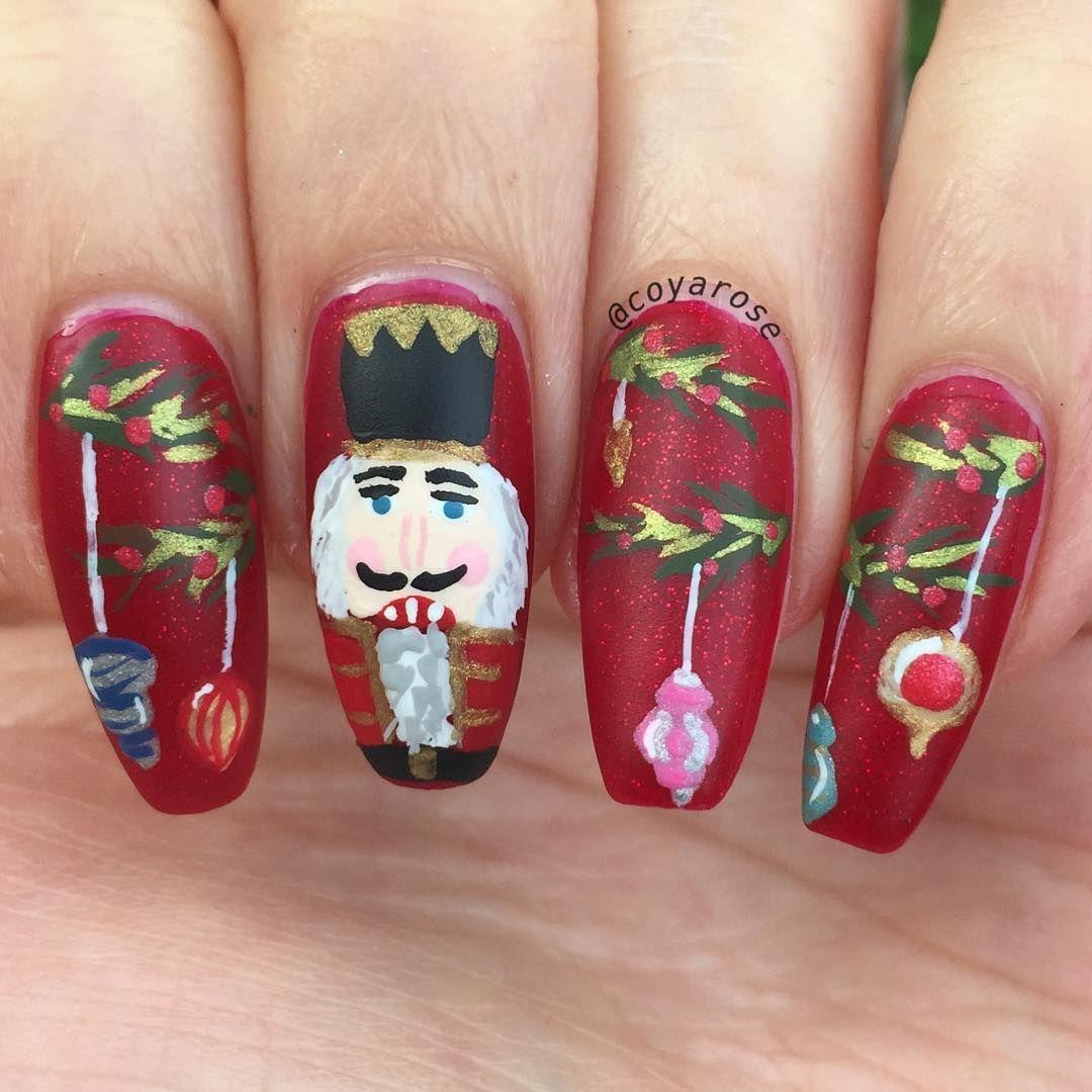 Nutcracker Christmas Decorations Nails Nail Art By Coyarose