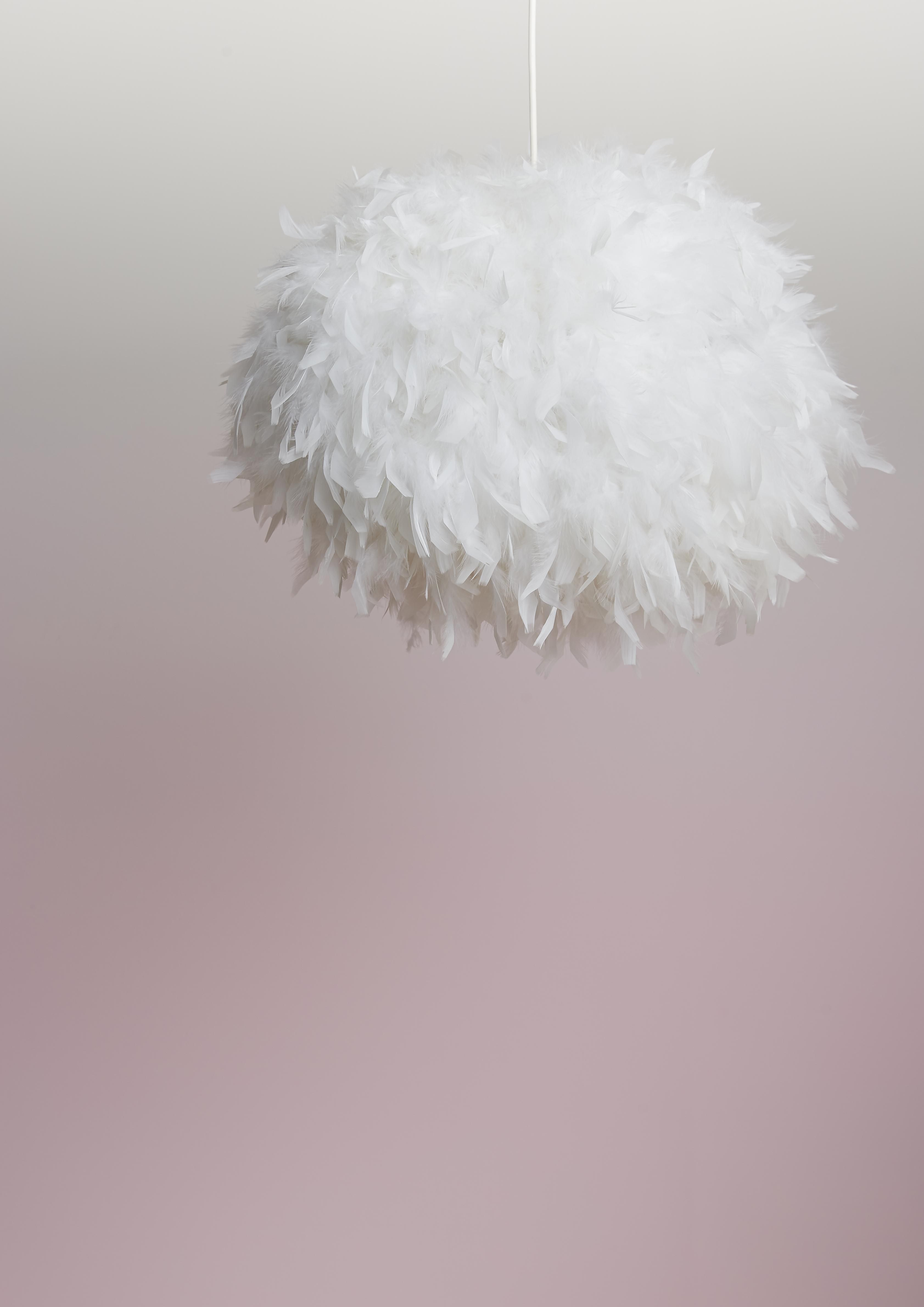 Colours melito white feather ball light shade d400mm pinterest unique lighting can make a real style statement in your home like this amazing feather ball light it looks as fluffy as a cloud aloadofball Images