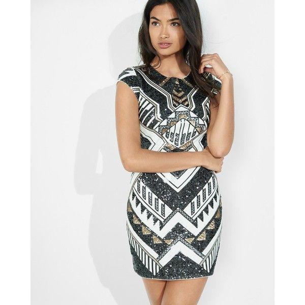 Express Deco Sequin Embellished Cap Sleeve Sheath Dress ($65 ...