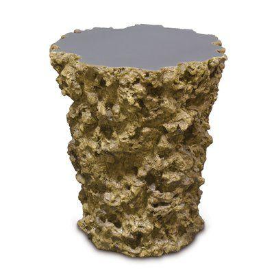 Palecek Lava Stump End Table
