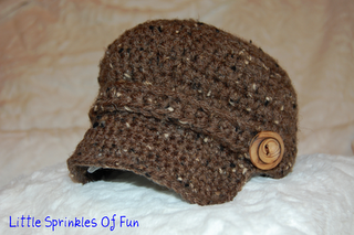 7ce1d8d9c Free Crochet newsboy cap Pattern-maybe I can get Amelia to crochet ...
