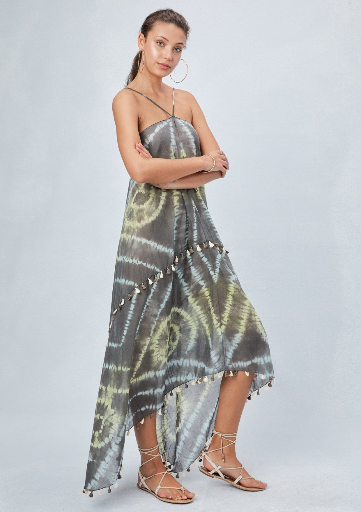Ania beach dress sheer dress dresses scarf dress