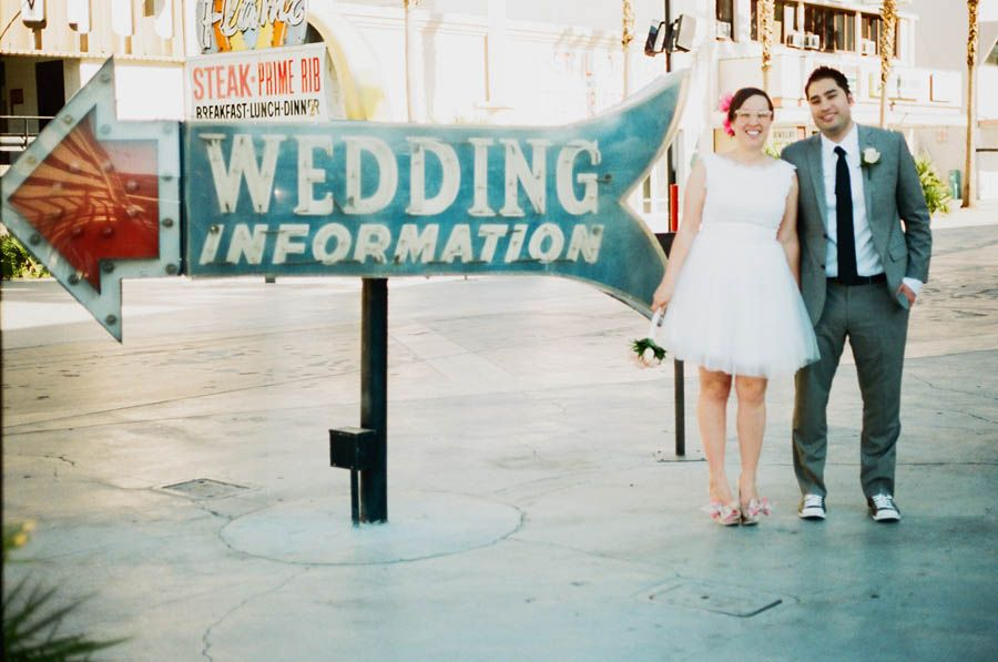 A Simple Retro Las Vegas Wedding Nicole Jamie