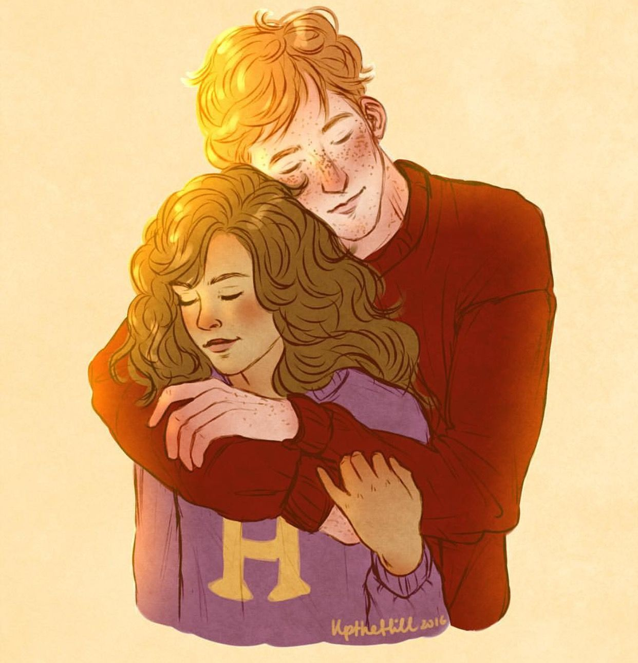 Fred Weasley And Hermione Granger Fan Art Ron and Hermion...