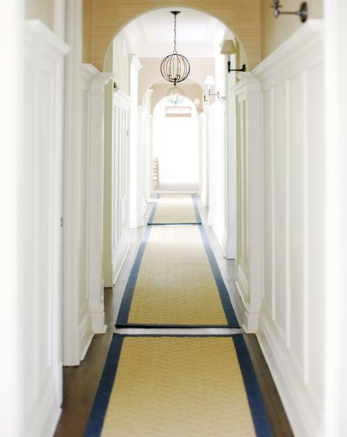 Love The Idea Of Back To Back Runners Down A Long Hall Home Dream House Hamptons House