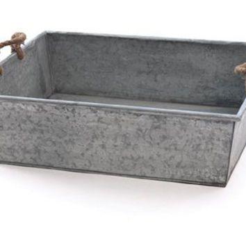 Galvanized Tin Tray 23  Storage Boxes u0026 Bins  sc 1 st  Pinterest & Galvanized Tin Tray 23