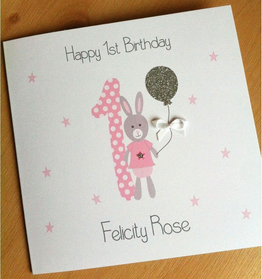Personalised Boys First Birthday Card Bubbles By August: Details About Handmade Personalised 1st Birthday Card Boys