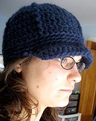 """Beanie Brim Cap pattern by Hannah Levine."" Crochet pattern using bulky weight."