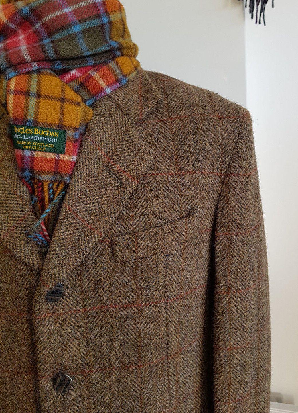 Harris Tweed Cromore Crombie Style Coat Official Stockist
