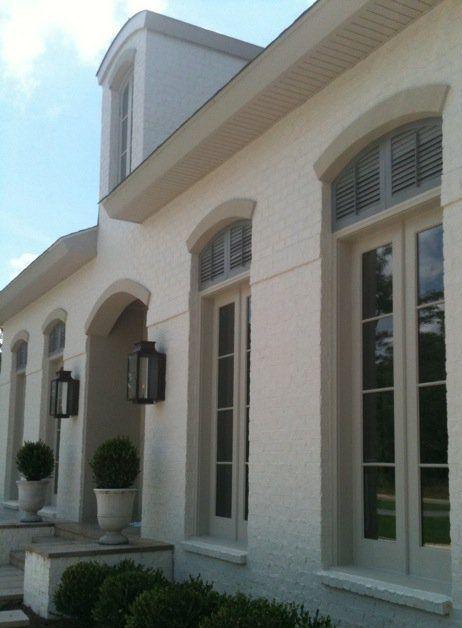 Exterior Window Trim Brick brick, shuttered windows, lanterns | | new houses | pinterest