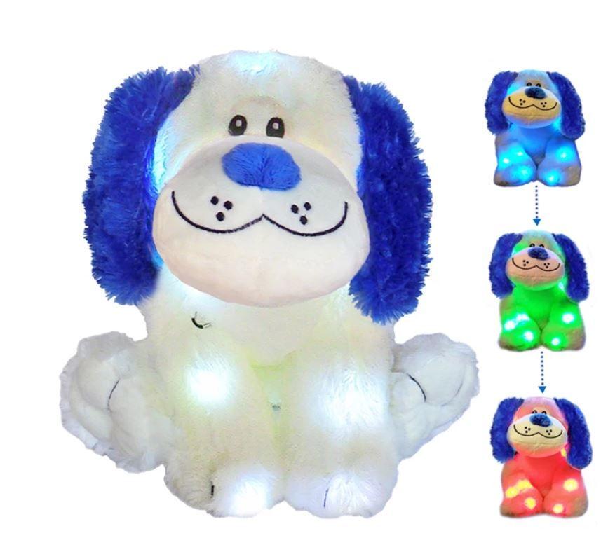 LED Light Up Dog Stuffed Animal Night Light for Kids