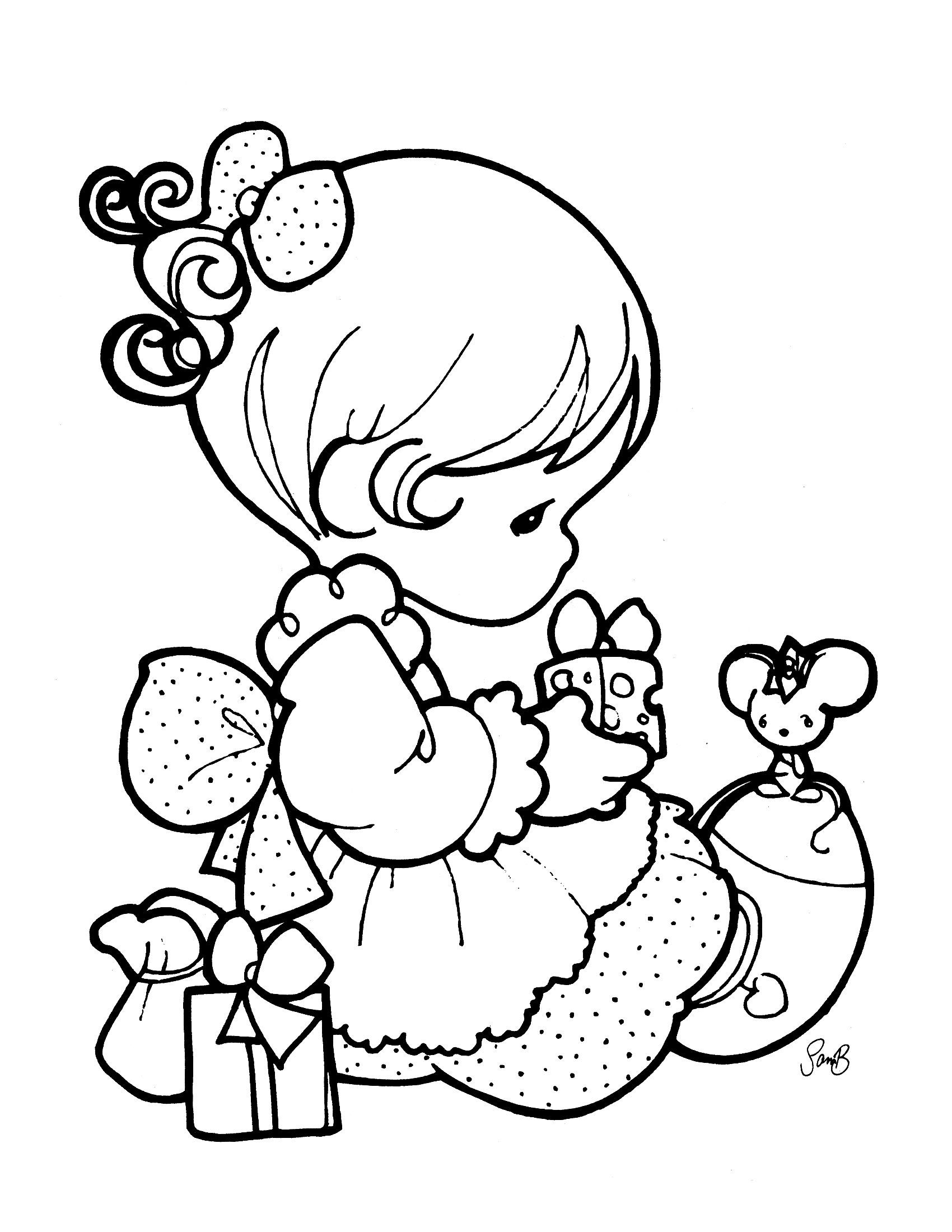 precious moments coloring page | Sellos Digitales | Pinterest ...