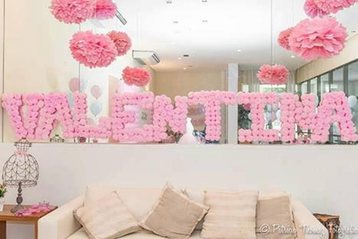 Dream ballet 1st birthday party planning ideas supplies for Ballerina party decoration ideas