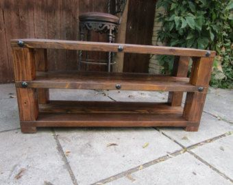 Items Similar To CHESTER: Rustic Wood TV Stand / Media Center On Etsy