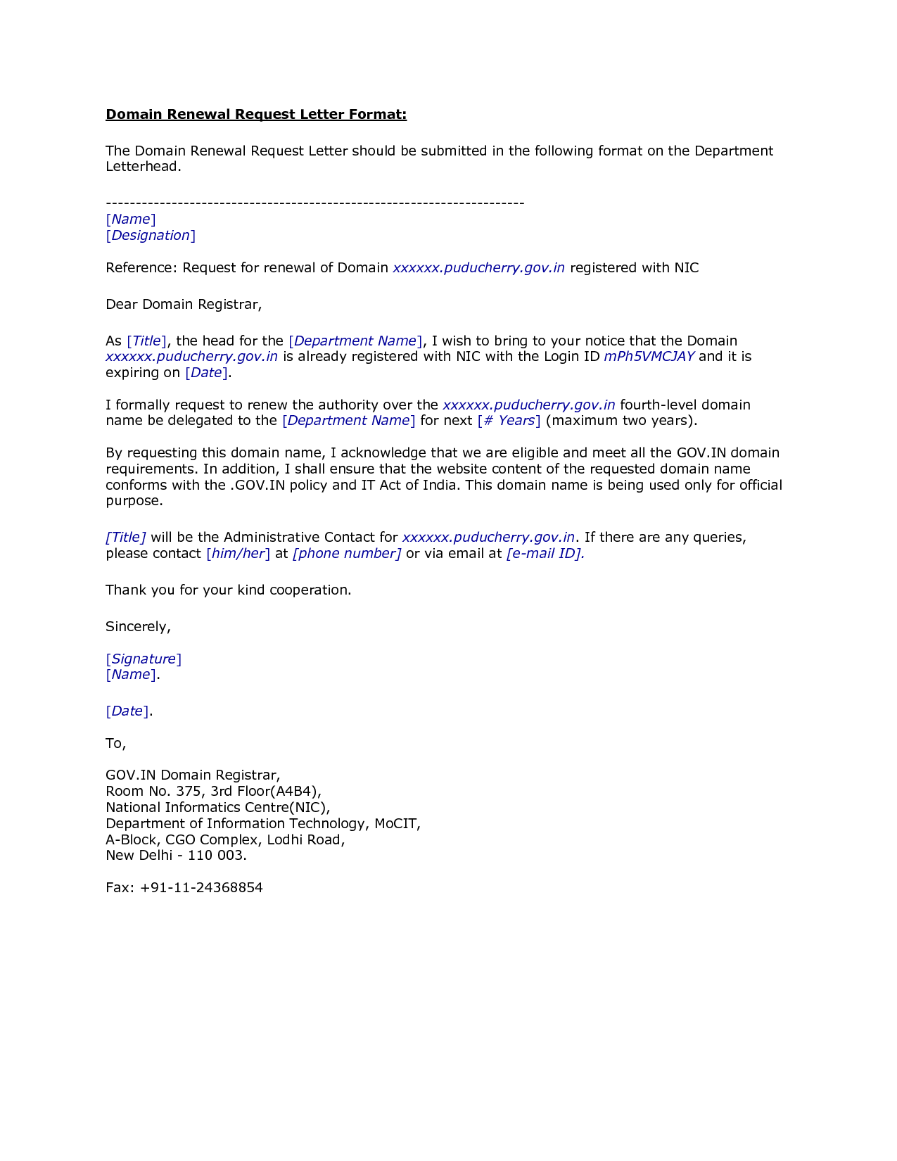 letter requesting job